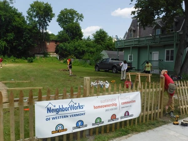 July 20, 2016 - volunteers with NeighborWorks of Western Vermont installed a fence in Rutland