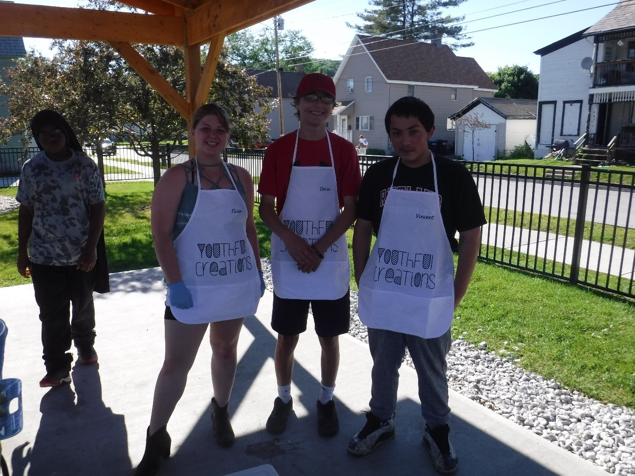 youth with aprons